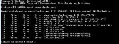 tracert eblocker org